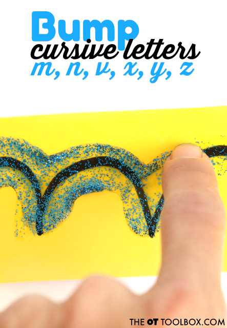 Use these activities and handwriting tips to help kids learn to write cursive letters. These are fun ways to teach cursive letter formation bump letters.