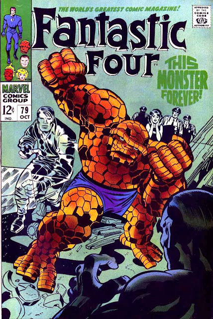 Fantastc Four v1 #79 marvel 1960s silver age comic book cover art by Jack Kirby