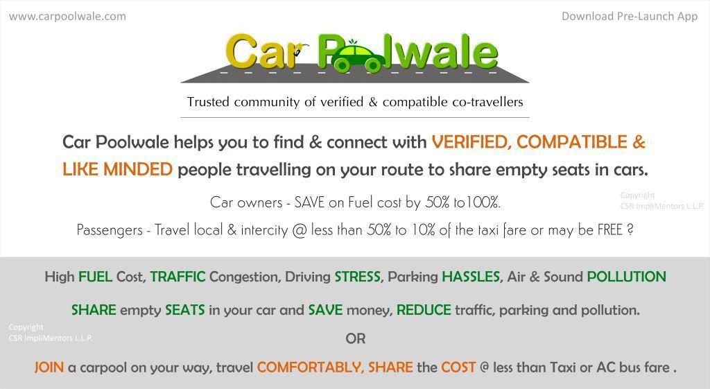 CarPoolwale: Objectives of Carpooling