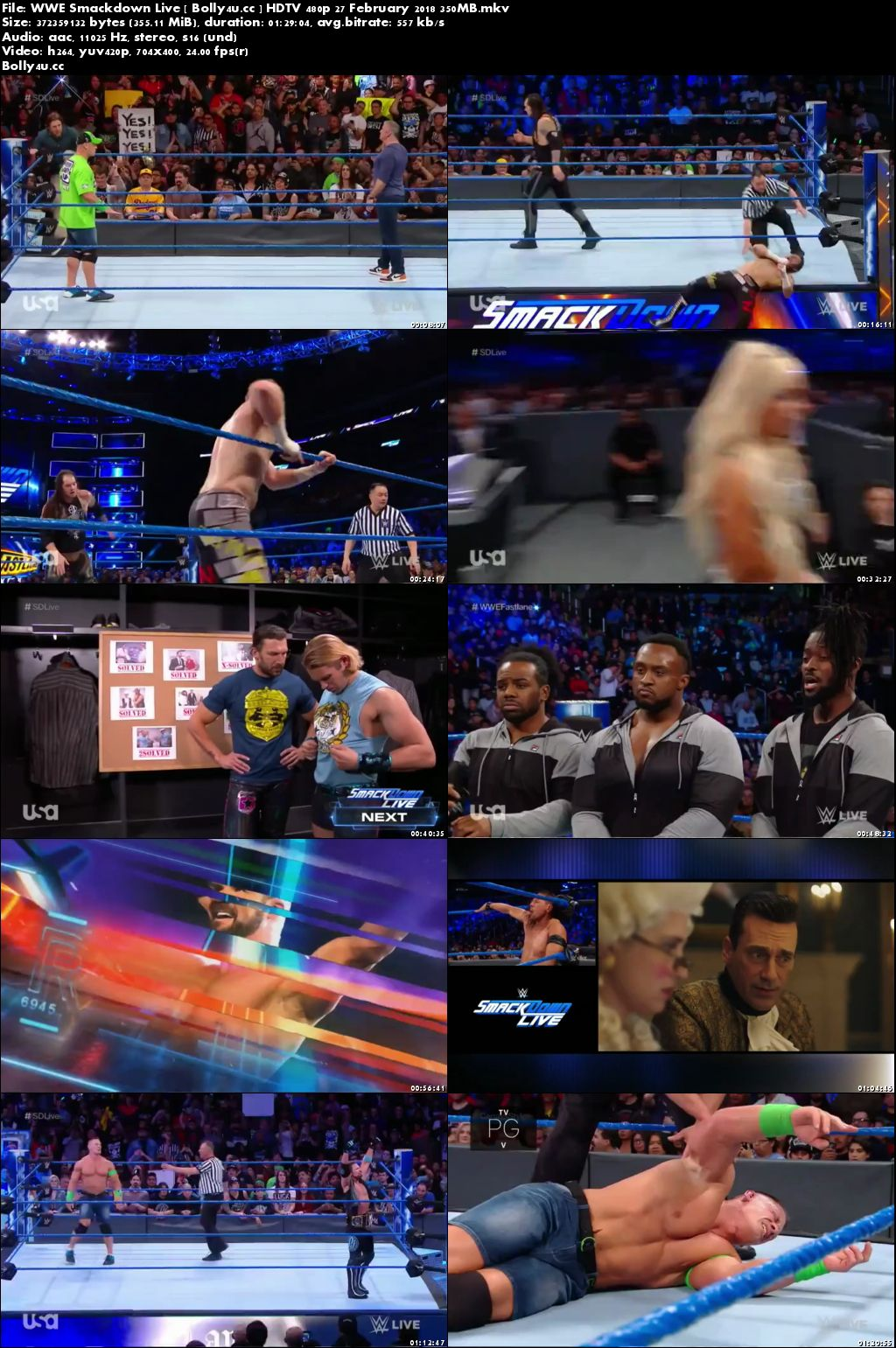 WWE Smackdown Live HDTV 480p 350MB 27 February 2018 Download