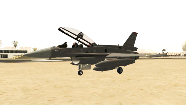 Free Download F-16D Fighting Falcon  Mod for GTA San Andreas.