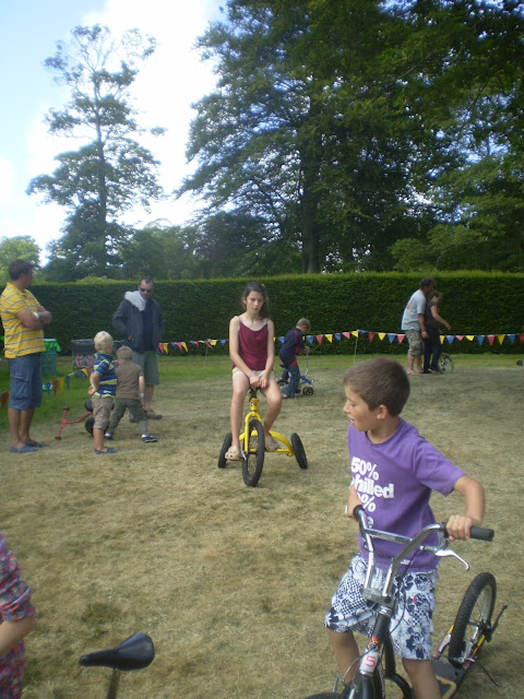 Crazy bike riding at camp bestival