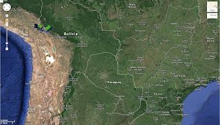 Trajeto de La Paz/Bolívia a Copacabana/Bolívia - 150 km.