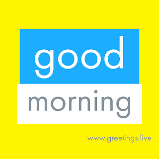 Yellow blue white colour combination Good morning digital text greetings HD image.jpg