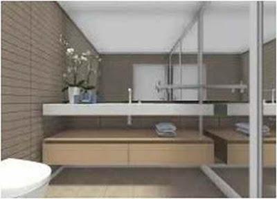 Inspiration Small Bathroom Dark Floor Light Walls