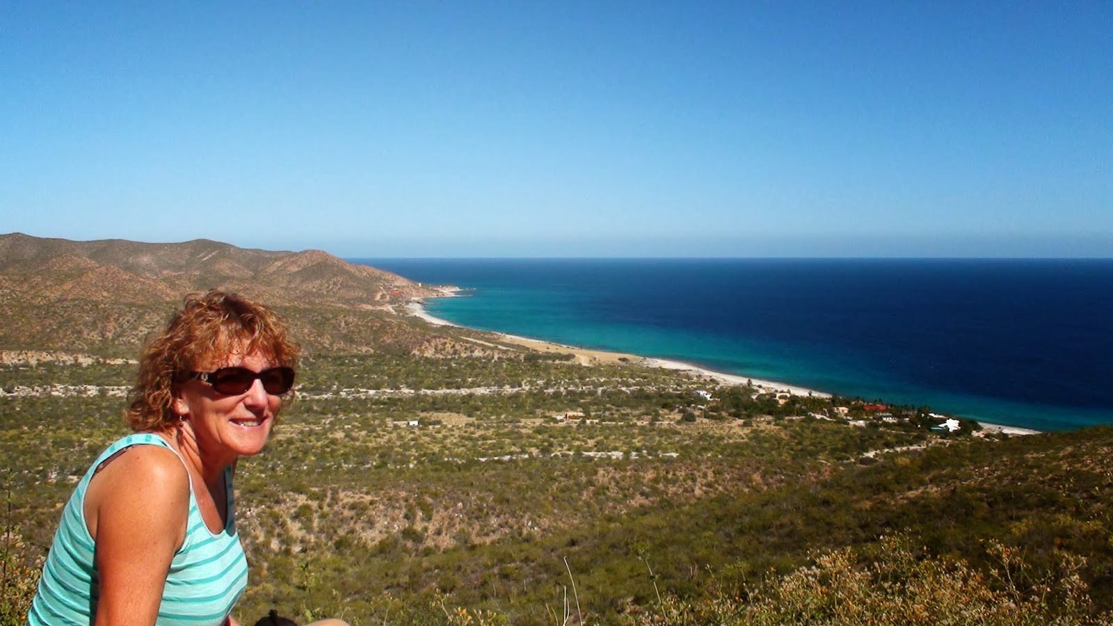 Liz outside Los Barriles, Baja California, Mexico