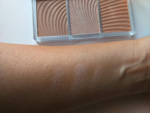 essence light up your face luminizer palette 10 ready, set, glow! swatch