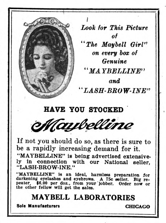 Maybelline ad 1920