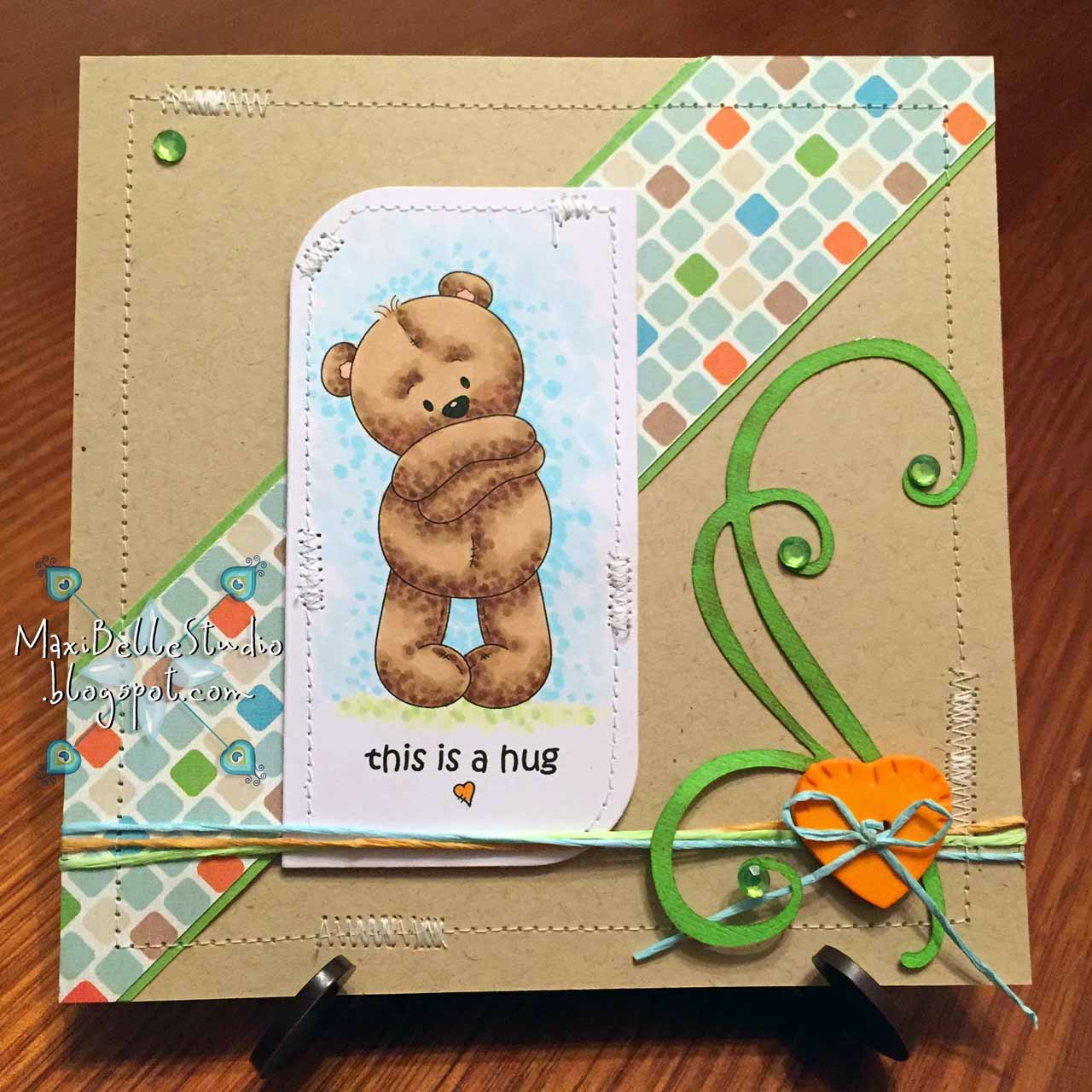 Stamp Art Design Little Bear This is a Hug