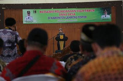 Refleksi Pelaksanaan Tiga Tahun Dana Desa Kabupaten Lampung Timur