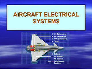 This is an image of electrical system in aircraft