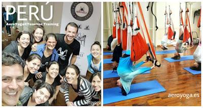 En esta foto: con los alumnos profesionales de la certificación oficial  aeroyoga® y aeropilates® international teacher training en Lima,  Peru