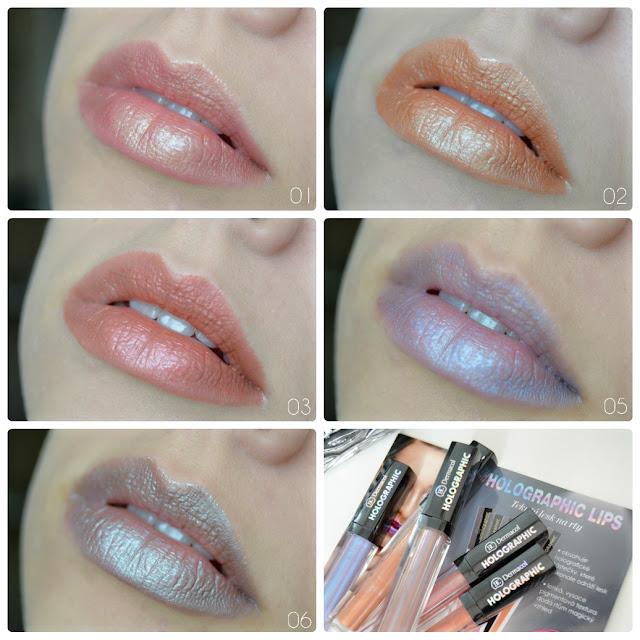 Dermacol Holographic lips holografické lesky na rty