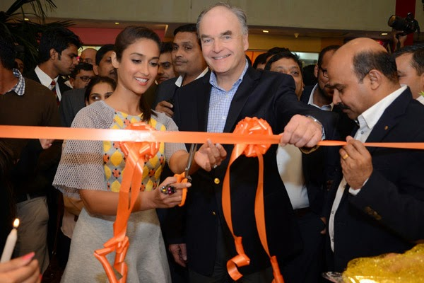 Ileana D'Cruz recently launched a footwear store in GIP Mall at Noida