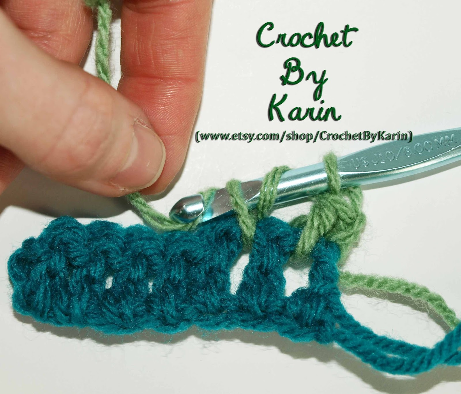 CrochetByKarin: Double Crochet Interlocking Stitch
