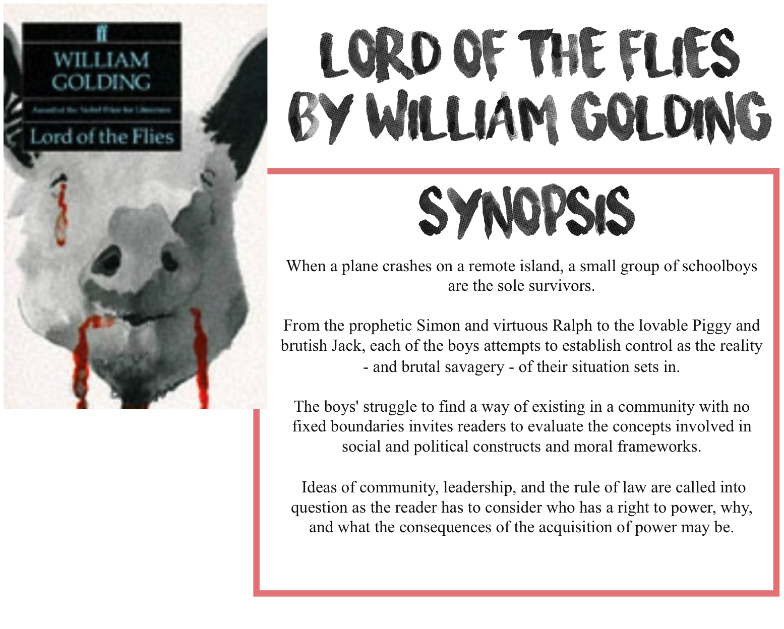 ryley reads lord of the flies by william golding book review i ll give a brief synopsis because i feel like this is one of those books everyone at least knows the general premise of following a plane crash on an