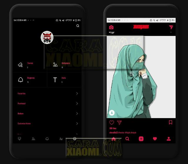 Download MIUI Thema Resolutions Dark Mtz For Xiaomi Terbaru
