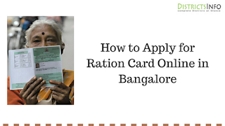 How to Apply for Ration Card Online in Bangalore