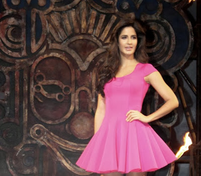 Katrina kaif hot photos in pink short dress