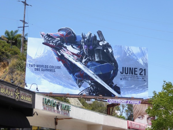 Transformers Last Knight extension cutout billboard