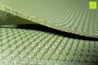 Kantendicke: Yogamatte aus natürlichen Gummi (Kautschuk) - »Rubin« 183x61x0,4cm - sehr rutschfeste Matte für Yoga : ideal für Yogalehrer & Yogastudios (Studio-Qualität). Erhältich in 6 Trendfarben : pink hellblau grün lila navyblau & schwarz. Exzellent geeignet für Yogaübungen (Asanas), Pilates & Gymnastik - die perfekte Fitnessmatte / Sportmatte dank innovativer Oberflächenstruktur - ökologisch korrekt hergestellt & REACH geprüft (keine Schadstoffe)