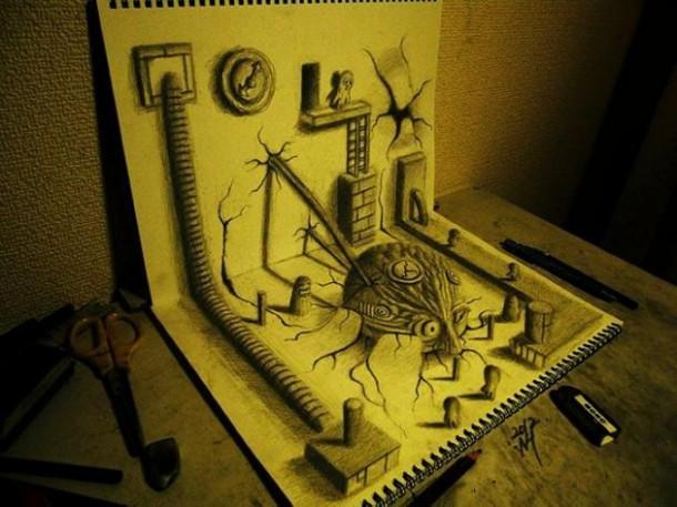 Трехмерные рисунки от Нагаи Хидеюки