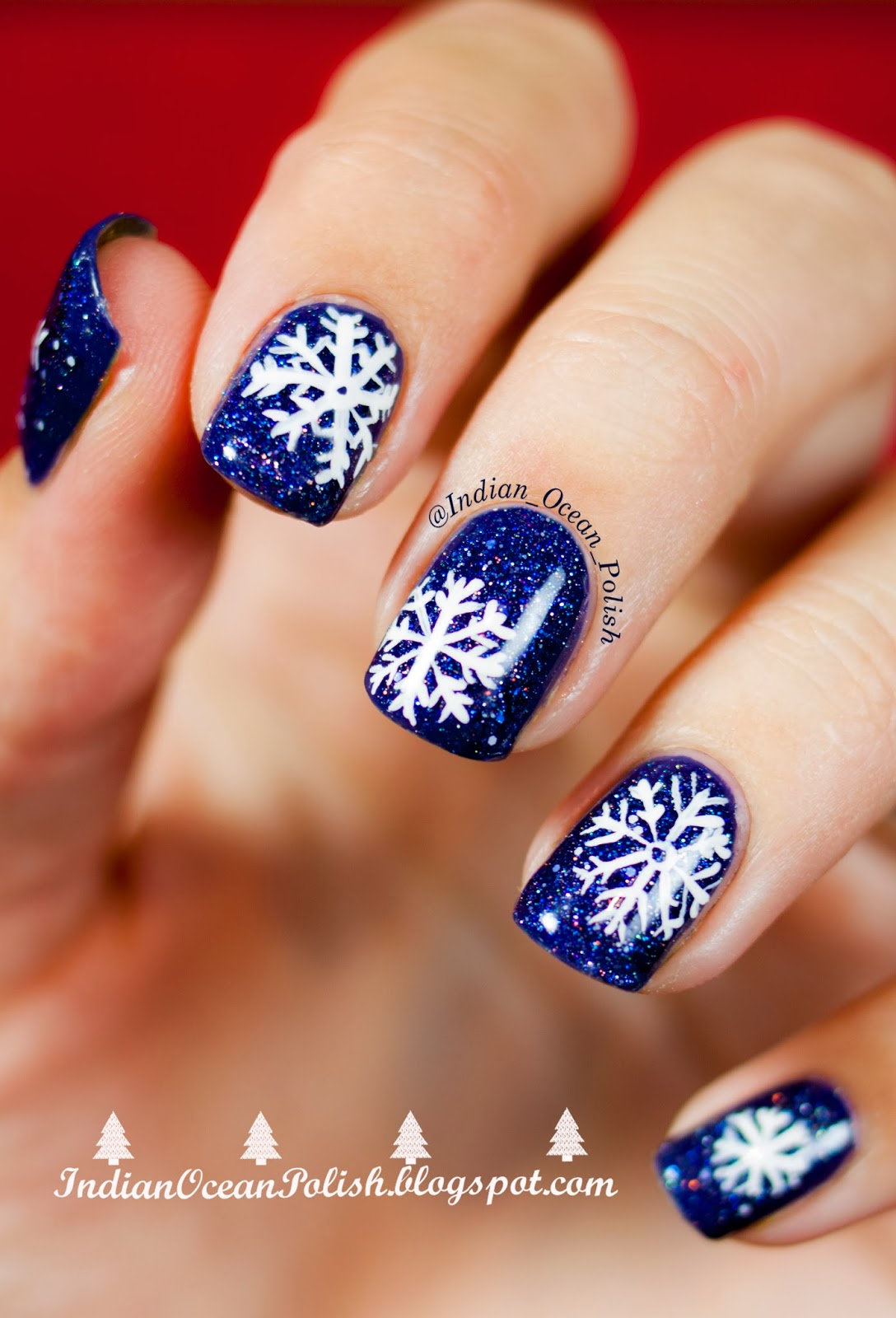 Nail Art Designs And Nail Polishes For French Manicure: Indian Ocean Polish: Christmas 2013 Nail Art Ideas: Simple