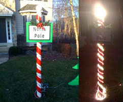 Add This To Your Diy Christmas Project List North Pole Sign Is 7 Feet Tall Looks Decorative During The Day And Lights Up At Night
