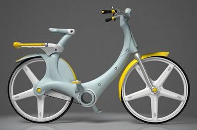 diseño de bicicleta futurista