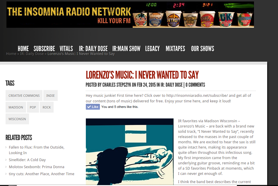 Insomnia Radio Website