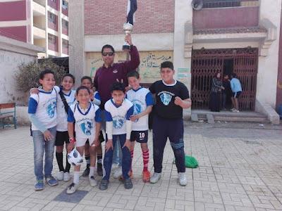 فريق مدرسة ميت الدببة يفوز بكأس بيبسى بكفر الشيخ