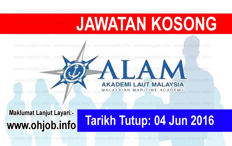 Jawatan Kerja Kosong Akademi Laut Malaysia (ALAM) logo www.ohjob.info jun 2016