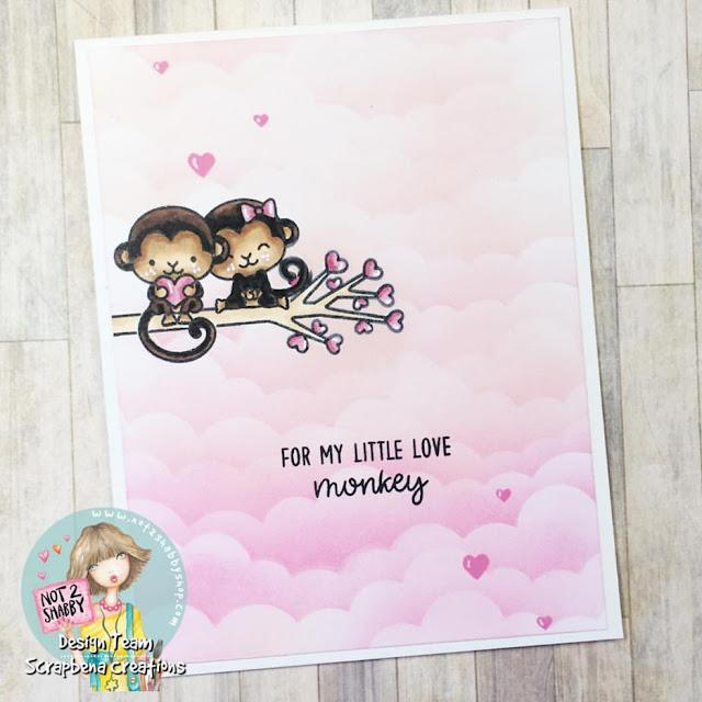 Sunny Studio Stamps: Love Monkey Customer Card Share by Jenn