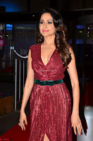 Pragya Jaiswal stunning Smiling Beauty in Deep neck sleeveless Maroon Gown at 64th Jio Filmfare Awards South 2017 ~  Exclusive 064.JPG