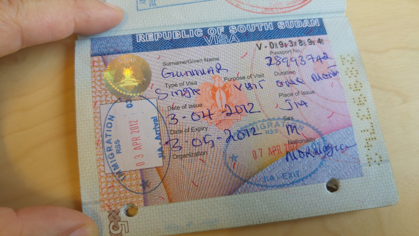 Worlds top 50 country passport stamps the garfors globe south sudan 39 the worlds youngest country provided me with this visa on the airport in juba thecheapjerseys Images