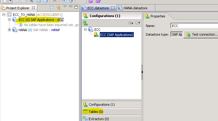 SAP TECH: Implementing Dataflow From ECC to HANA by using