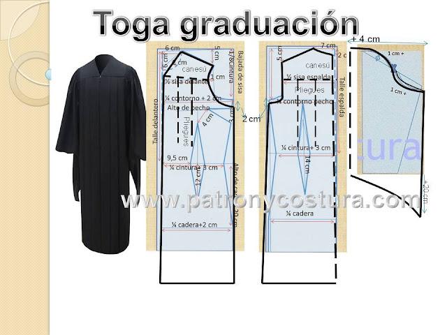 www.patronycostura.com/toga graducación y birrete