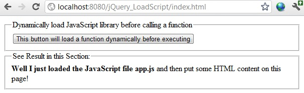 jquery load javascript on demand