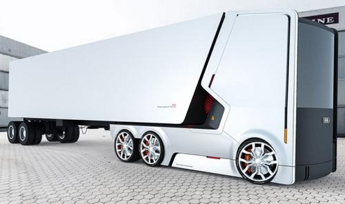 Tinuku.com Dua Proposal Konsep Desain Truk Elektrik Futuristik Membawa Brand Audi