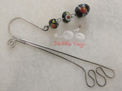 Wire wrapped bookmarks with native Sarawak beads