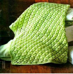 patrones de cobija bebe tejida al crochet
