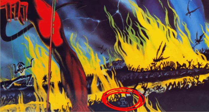 Veja a assinatura do ilustrador no album The Number of the Beast