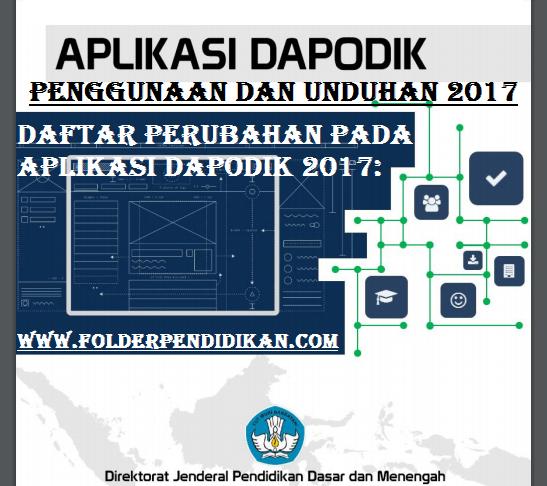 Informasi dan Pembaharuan dari Aplikasi Dapodik 2017