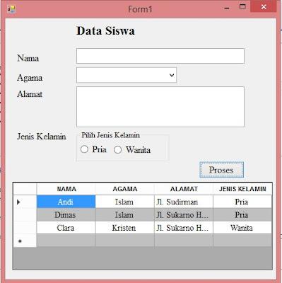 Mempercantik tampilan Datagridview