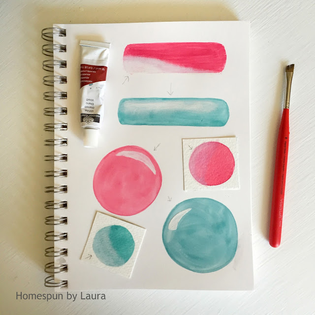 homespun by laura daily doodle dry brush highlighting watercolor