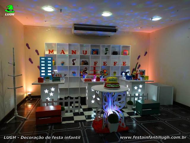 Decoração festa DPA. - Detetive do Prédio Azul - Decoração provençal DPA de aniversário infantil - Festa na Barra - Rio de Janeiro(RJ)