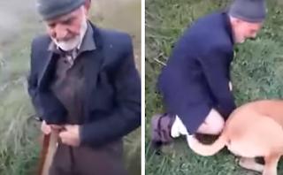 Τούρκος ακινητοποιεί αδέσποτο σκύλο και τον βιάζει έξω από τζαμί (Βίντεο)