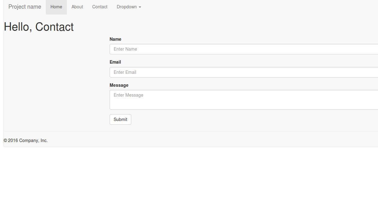 WebDev: node js: create a contactform with express, jade, boostrap