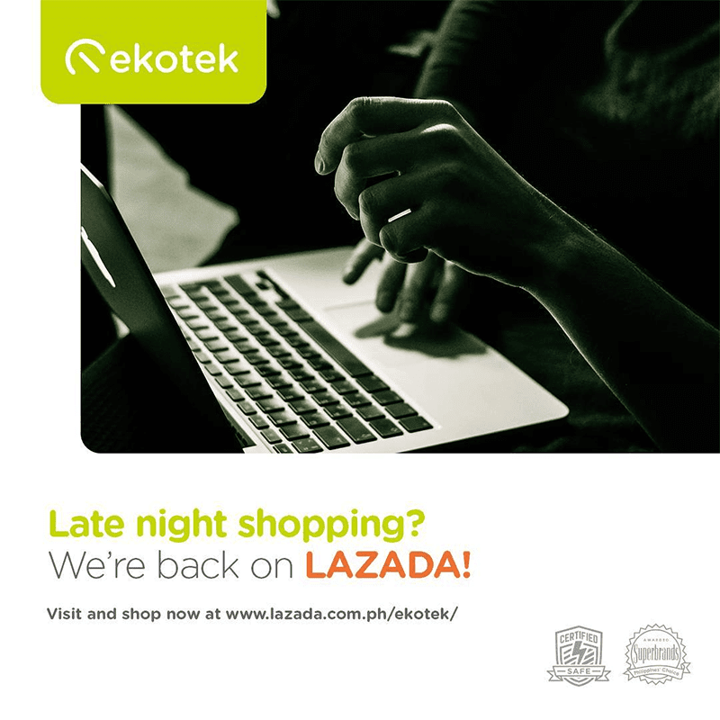 Ekotek reopens official brand store at Lazada Philippines