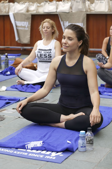 Sophia Bush at a Private Yoga Event Lollapalooza Weekend in Chicago